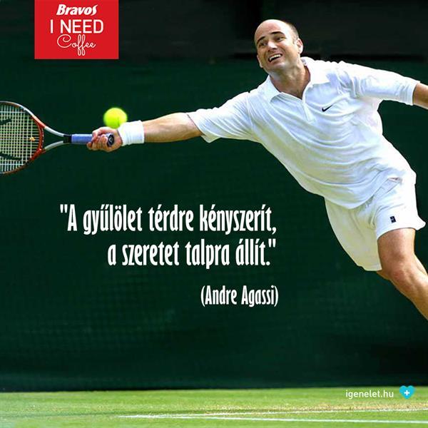 Andre Agassi arról, mi kényszerít térdre