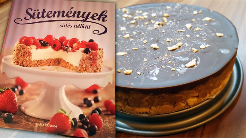 Csokis-kekszes almatorta sütés nélkül