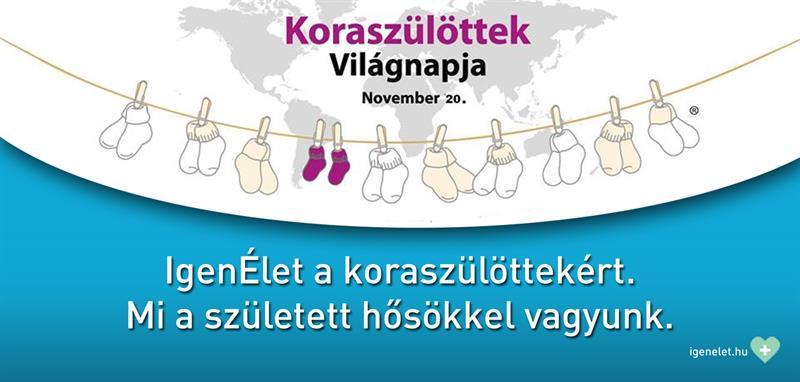 Együtt a koraszülöttekért! – Az IgenÉlet a Koraszülöttek Világnapjának médiapartnere
