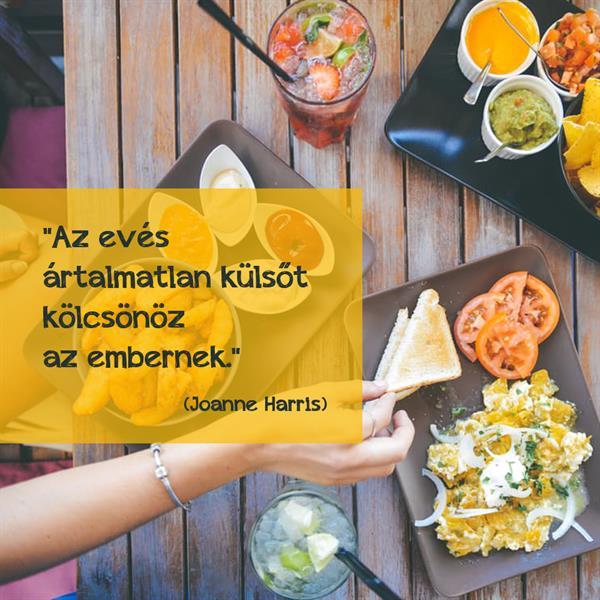 Joanne Harris az evés okozta ártalmatlanságról