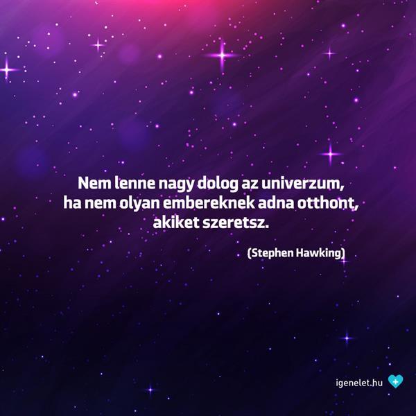 Stephen Hawking az univerzumról