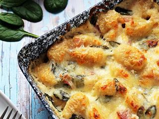Sült, sajtos gnocchi - a tökéletes, tízperces ebéd