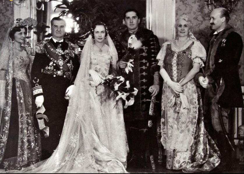 A kormányzópár fiuk, István esküvőjén 1940-ben
